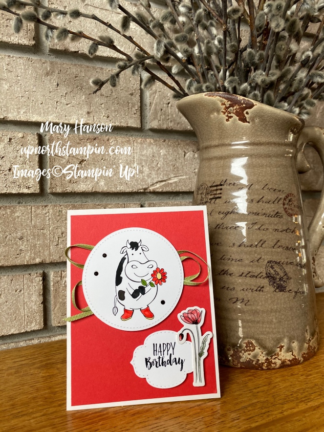 Over the Moon - Wittycisms - Peaceful Poppies Elements - Hearth - Mary Hanson - Up North Stampin'