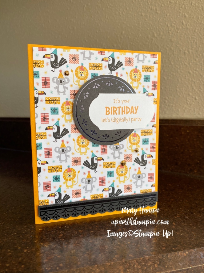 Share Sunshine PDF - Birthday Buddies Designer Series Paper - Peaceful Poppies Elements - Mary Hanson - Up North Stampin' - Stampin' Up!