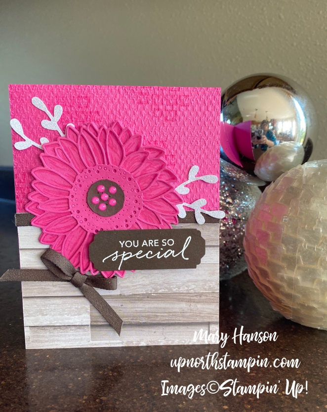 Celebrate Sunflowers - Hutch - Lovely You - Magenta Madness - Up North Stampin' - Mary Hanson