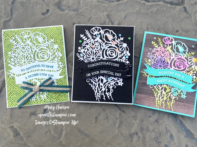 Three Cards - Artistry Blooms Suite - Mary Hanson - Up Nort Stampin'