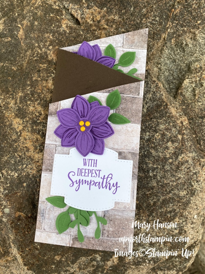 Floral Essence - In Good Taste DSP - Rock Folded - Peaceful Moments - Mary Hanson - Up North Stampin'