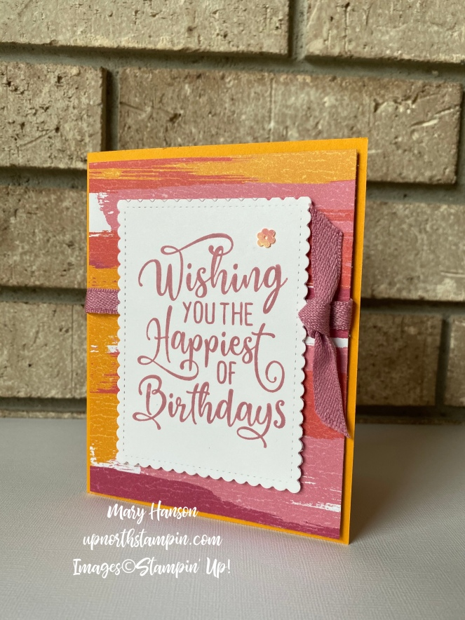 Happiest of Birthdays 1 - Artistry Blooms Designer Series Papers - Mary Hanson - Up North Stampin'