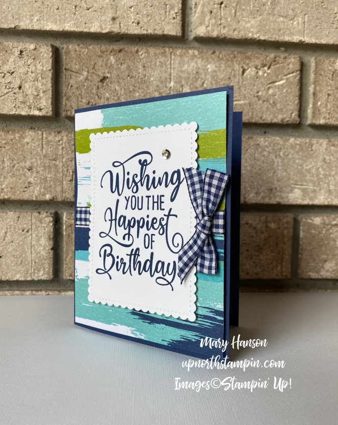 Happiest of Birthdays 2 - Artistry Blooms Designer Series Papers - Mary Hanson - Up North Stampin'