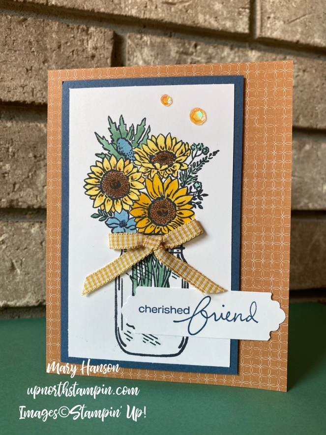 Jar of Flowers - 4 - Flowers for Every Season DSP - Lovely You - Mary Hanson - Up North Stampin'
