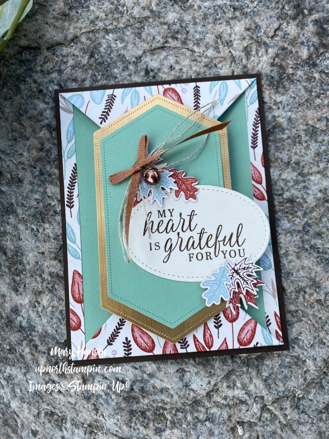Beautiful Autumn Suite - Rock 1 - Mary Hanson - Up North Stampin'