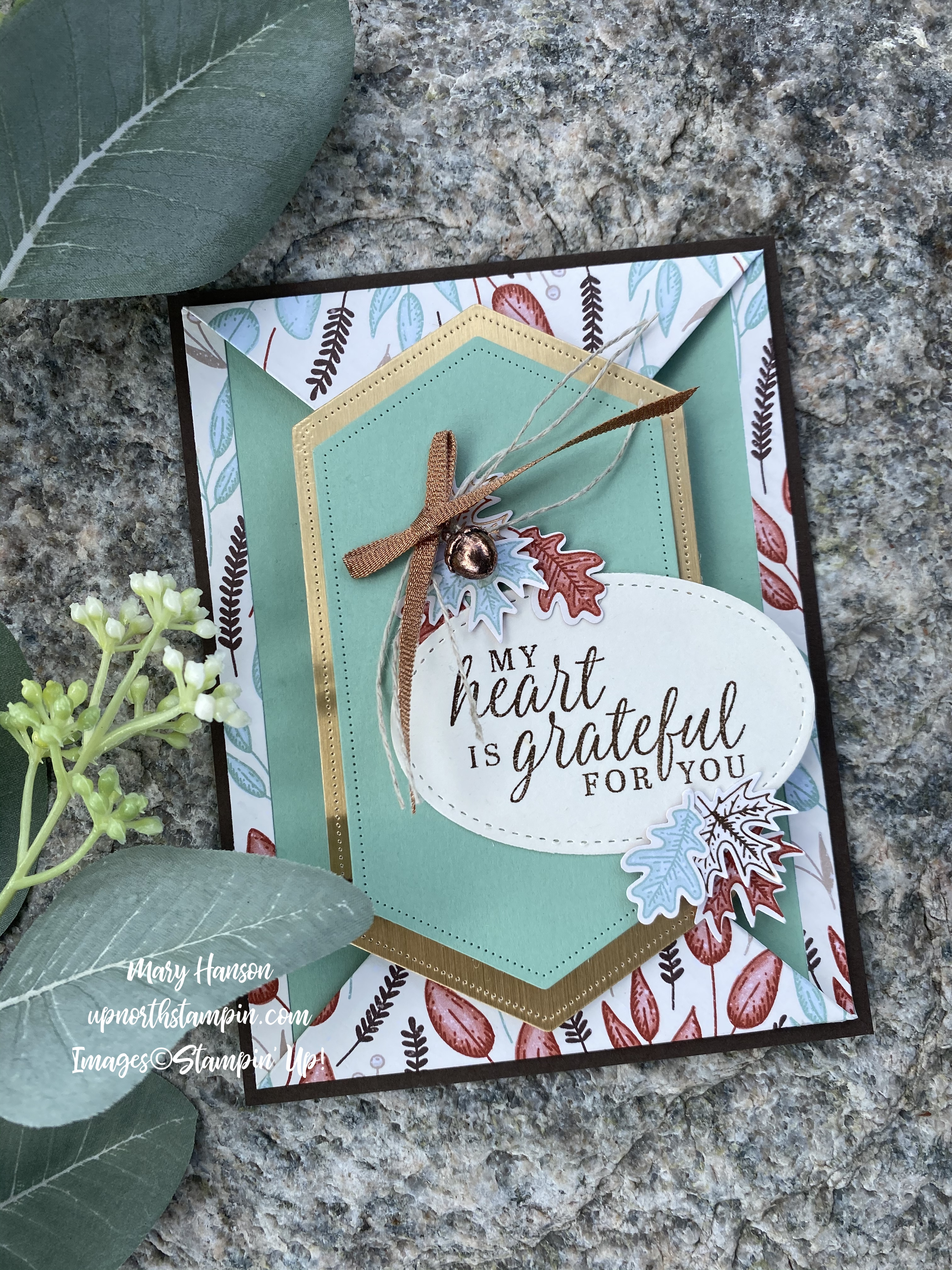 Beautiful Autumn Suite - Rock 2 - Up North Stampin' - Mary Hanson